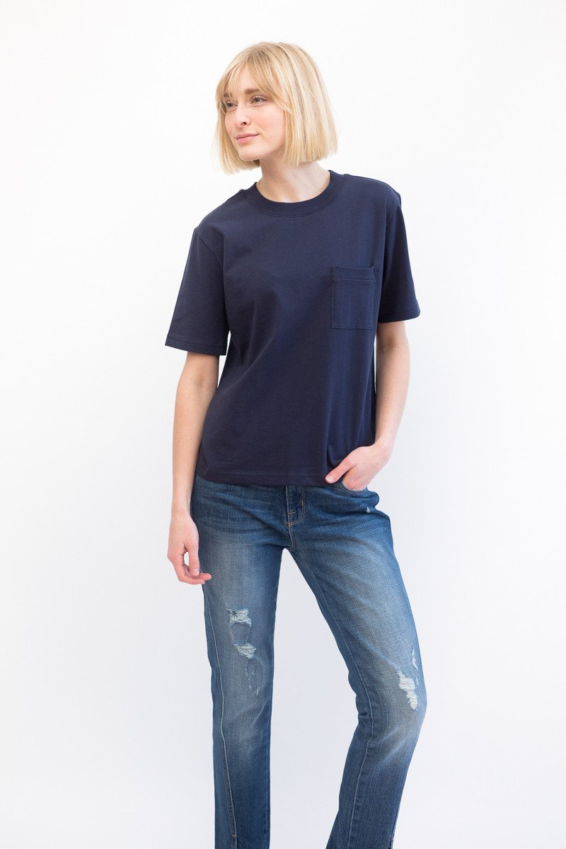 Organic by John Patrick Mock Neck Tee