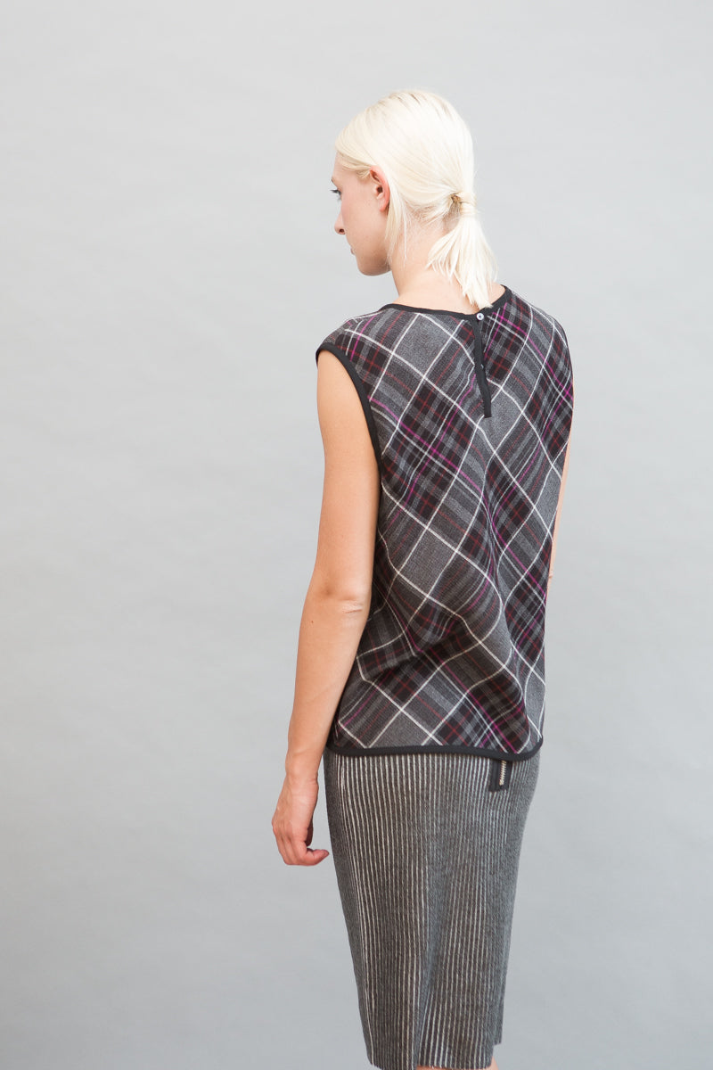 Public School Plaid Tank