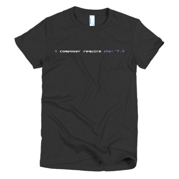 Composer Require PHP 7: Womens Tee