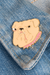 tuesday bassen bulldog pin on leather jacket