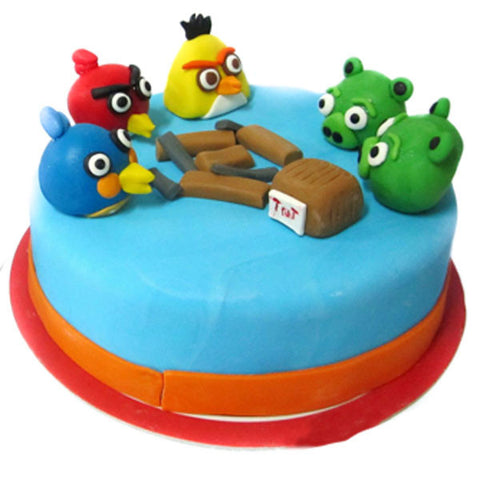 Birthday angry birds cake