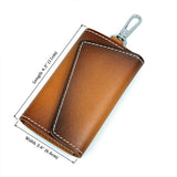 Brown JMD Brand Genuine Leather Key Bags Men