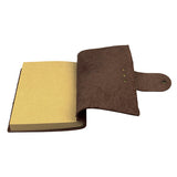 Genuine Cow Leather Journals Notebook for Men and Women Dark Brown