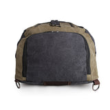 Army Green+Black Durable Canvas Multifunction Mountainnering Rucksack for Laptop