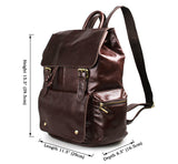 Practical Cowboy Vintage Leather Unisex Bookbag Schoolbag Backpack