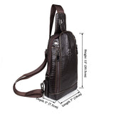 Unique Design Fashion Men Chocolate Chest Bag Backpack Messenger Bag