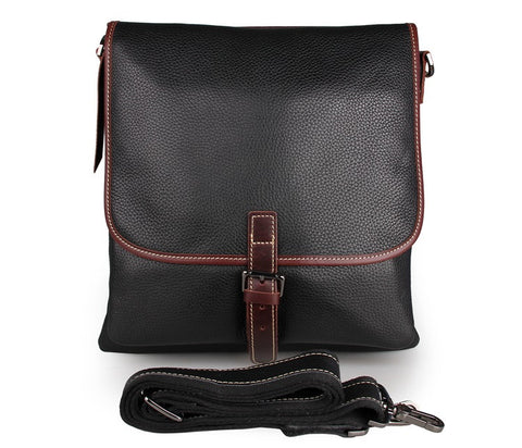 Stylish Vintage Men's Cow Leather Shoulder Ipad Crossbody Bag