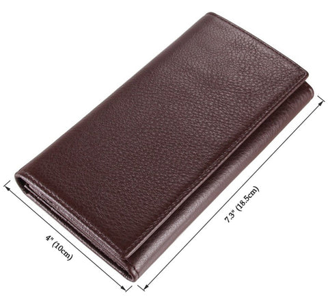 Business Leather Purse Wallet Card Holder