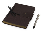 Lichee Pattern Unisex Leather Journals Notebook