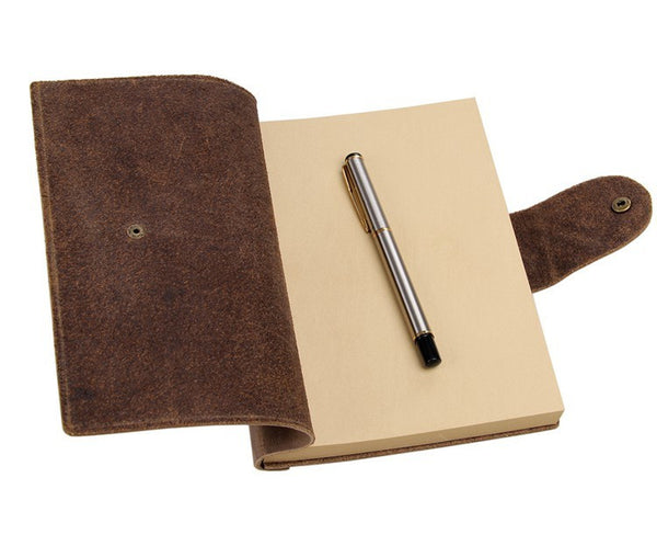 Beautiful Crazy Horse Leather Notebook