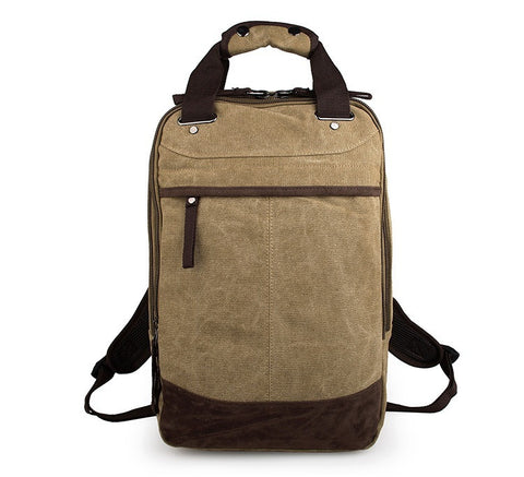 Popular Top Quality Large Capacity Men's Canvas Backpack