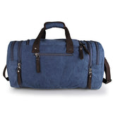 Blue JMD Brand Canvas Hiking Shoulder Bag Unisex