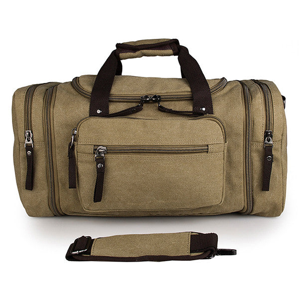 9029N Light Army Green JMD Brand Canvas Hiking Shoulder Bag Unisex