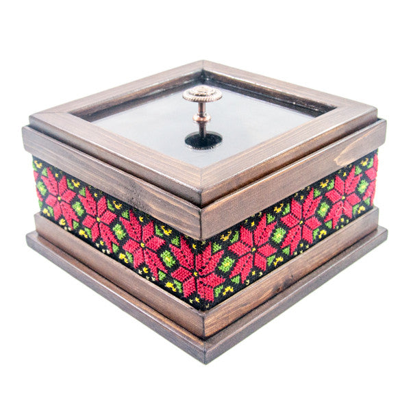 Red Embroidered Chocolate Box