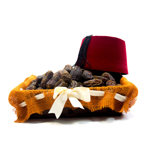 Red Fez Decorative date basket