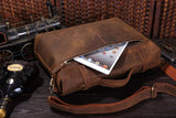 Rare Stylish Cow Leather Men's Briefcase Laptop Handbag Messenger Bag