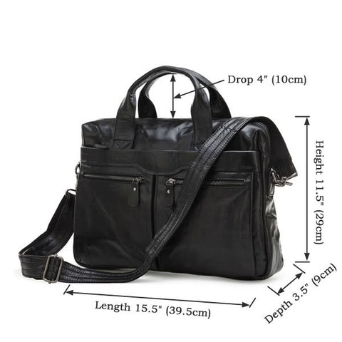 Classic Vintage Leather Men's Briefcase Handbag Hot Selling