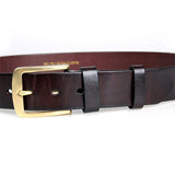 Chocolate Durable Vegetable Leather Men Fashion Belt