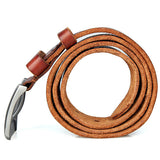 Brown Fashion Durable Vegetable Leather Belt
