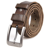 Coffee Fashion Durable Vegetable Leather Belt with Cutting Machine