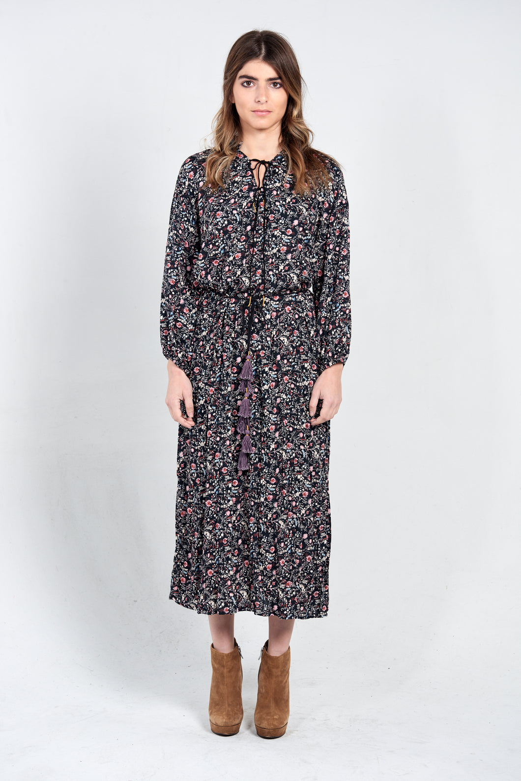 PEASANT FLORAL MIDI - REGULAR SIZE