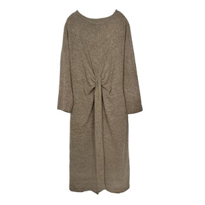 THIN KNIT WRAP FRONT DRESS