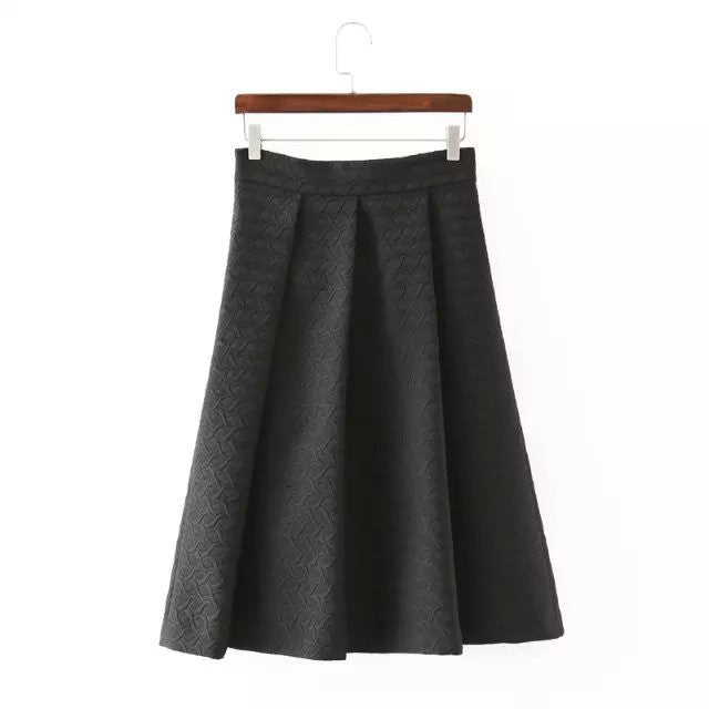 Etched Jacquard Skirt