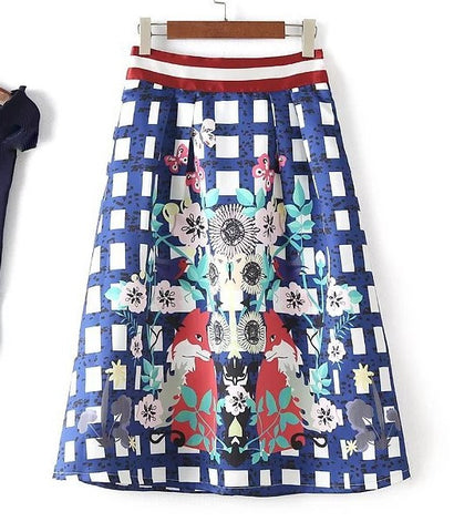 Fox and Flowers Skirt