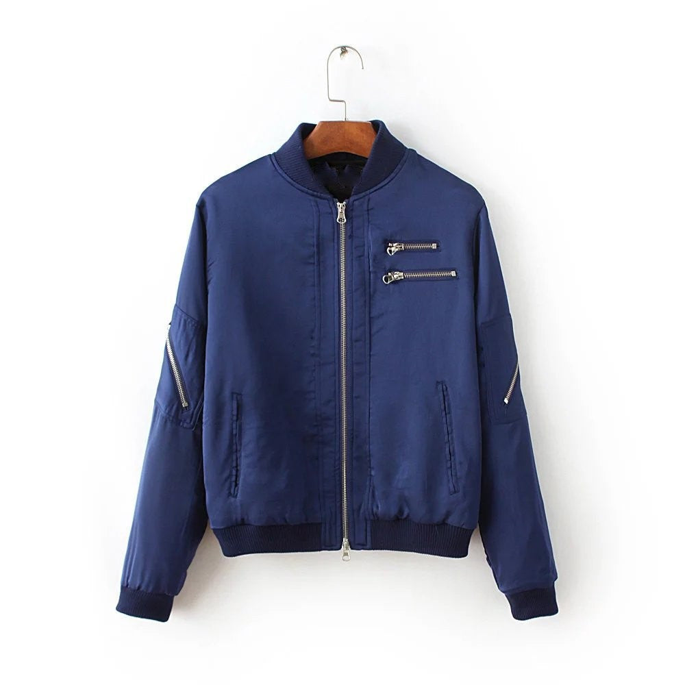 Zipper Bomber Jacket