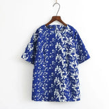 Fitted Floral Blouse - Mia Mod