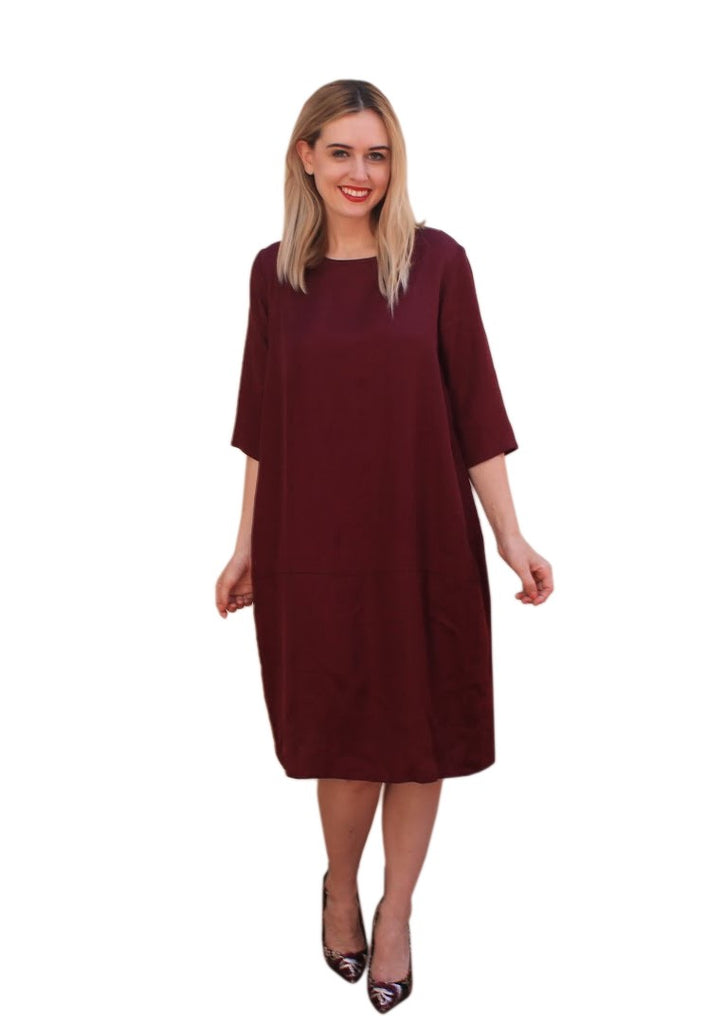 SILKY COCOON SHIFT DRESS
