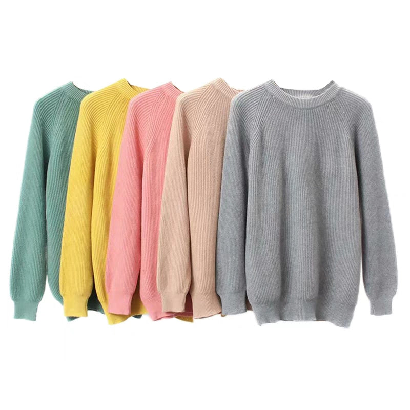 COLOR POP RIBBED SWEATER