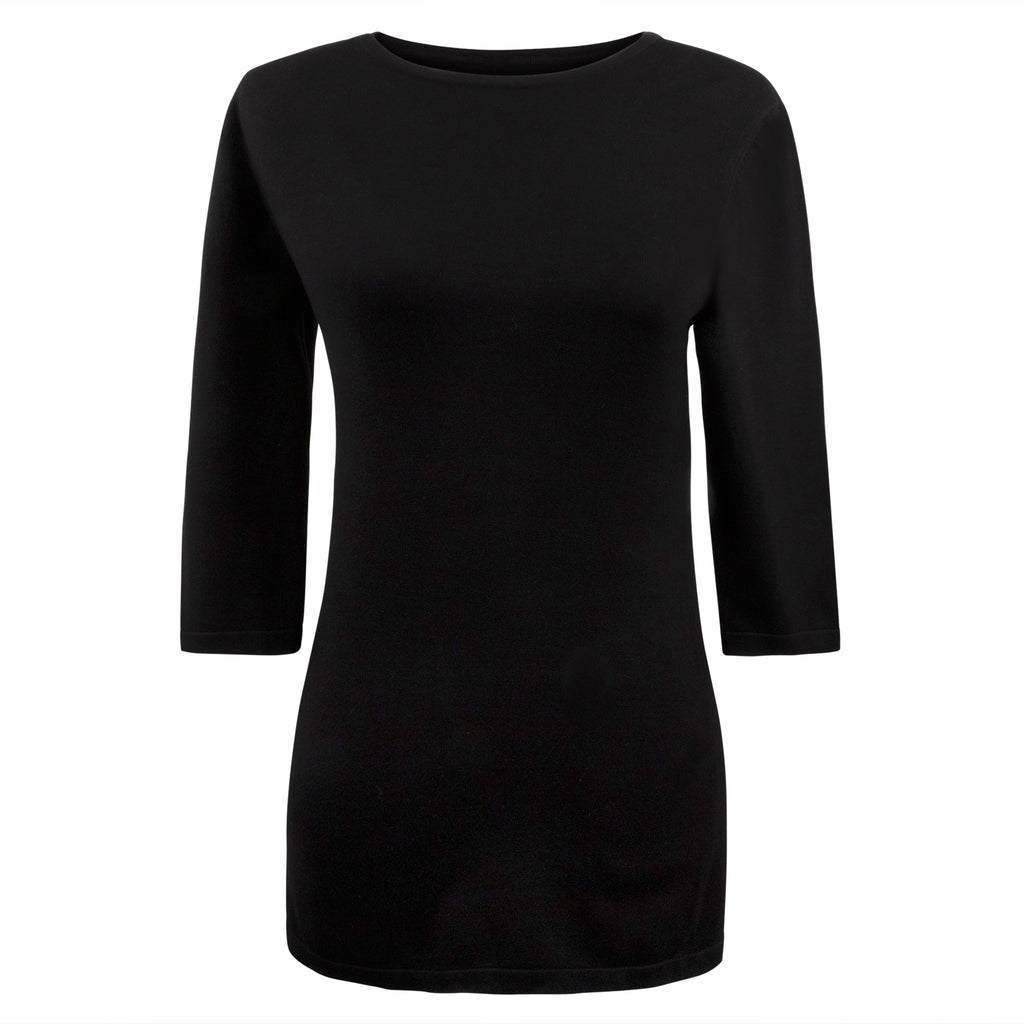 THE MM PERFECT TOP - 3/4 SLEEVE BLACK