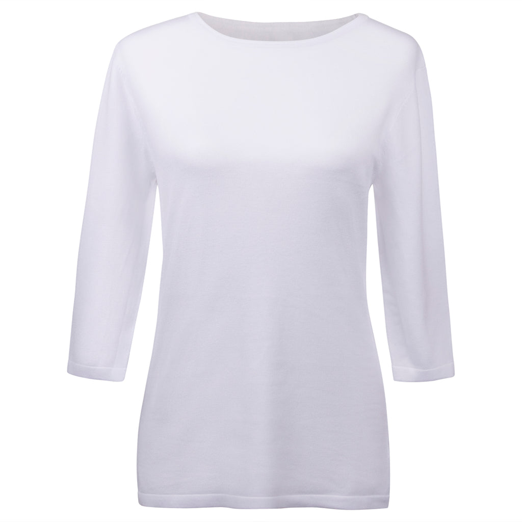 THE MM PERFECT TOP - 3/4 SLEEVE WHITE