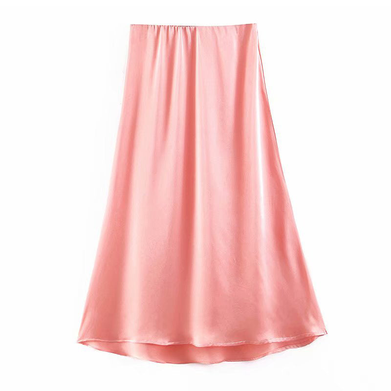 THIN MIDI SLIP SKIRT