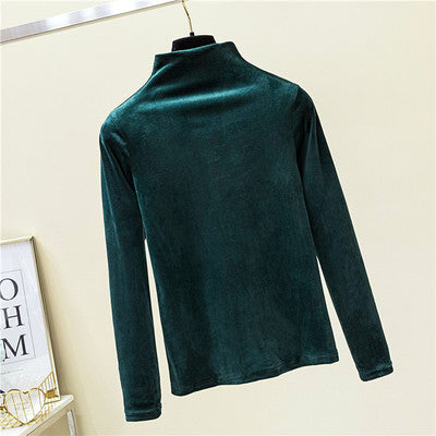 SOFTEST VELVET MOCK TURTLENECK