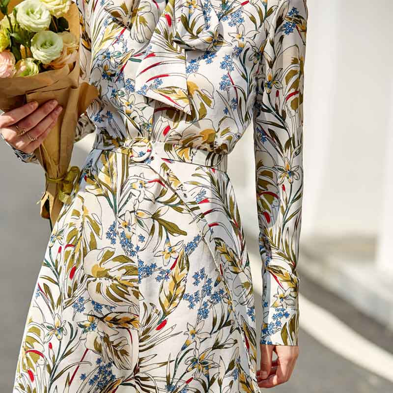 SUMMER PRINTED FLORAL DRESS