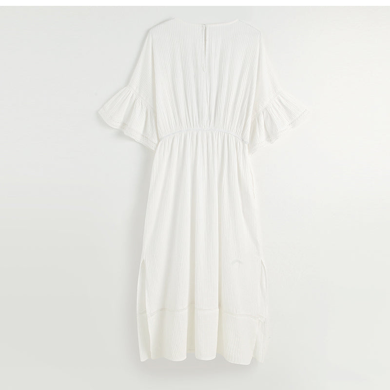 WHITE THIN BOHEME DRESS