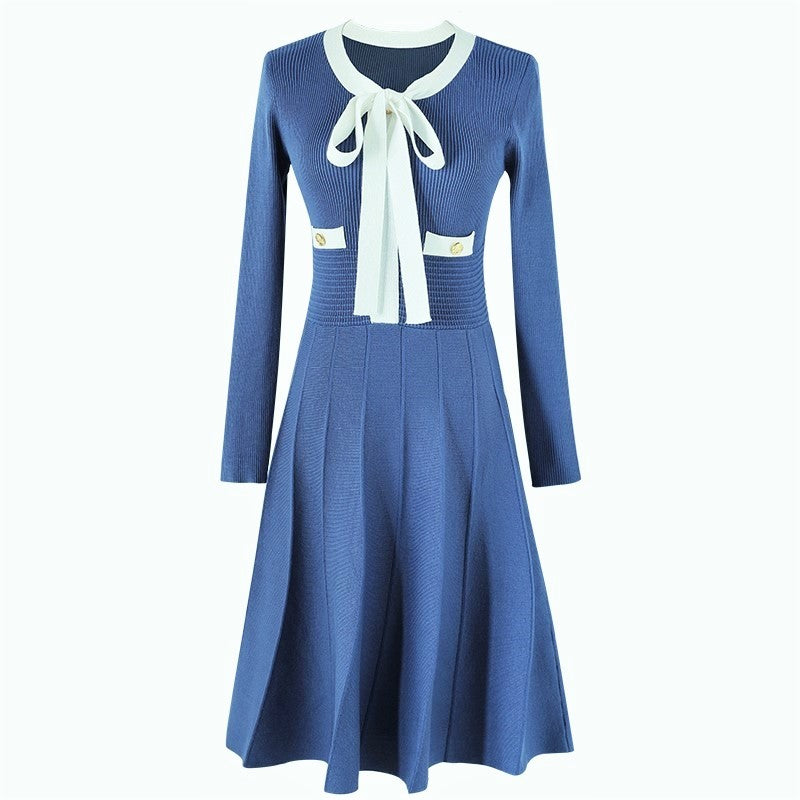BLUE DESIGNER DRESS