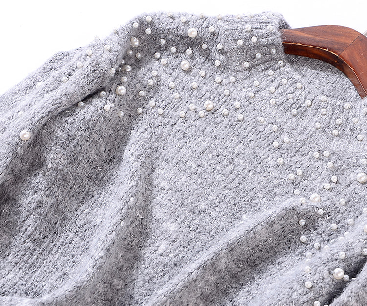 PEARL STUDDED SWEATER