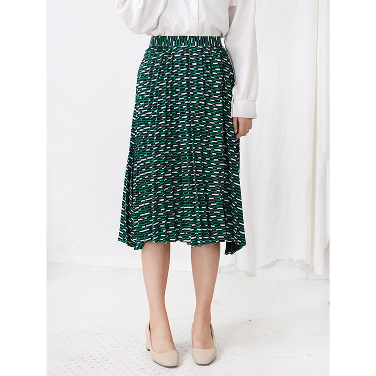 TILE PLEATED SKIRT