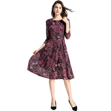 PURPLE FLORAL LACE DRESS