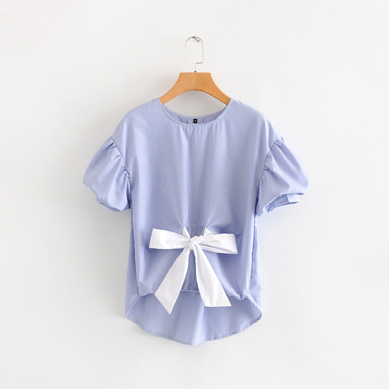 PINSTRIPE BOW TOP 2ND STYLE