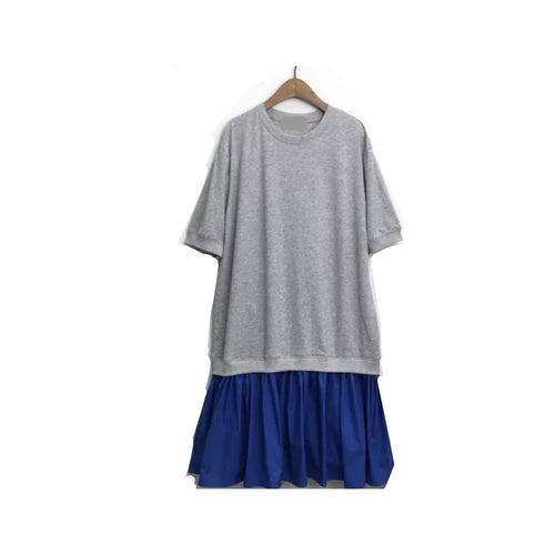 RUFFLE BOTTOM TSHIRT DRESS
