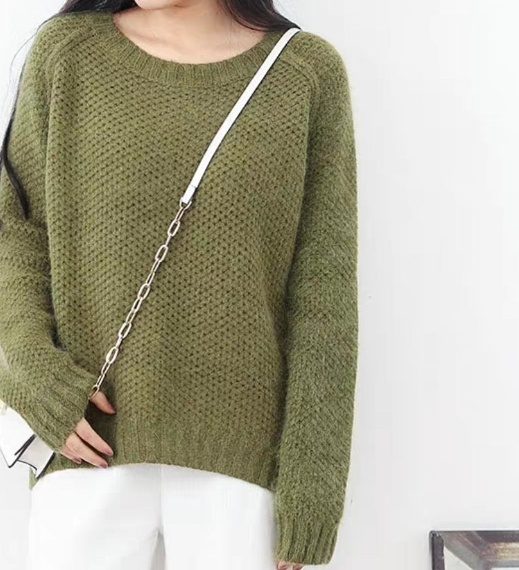 FUZZ GREEN SWEATER