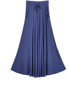 BLUE MM Long Pocket Skirts