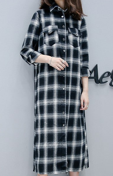 LIGHT FLANNEL SHIRT DRESS