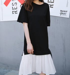 Pleat Bottom TShirt Dress