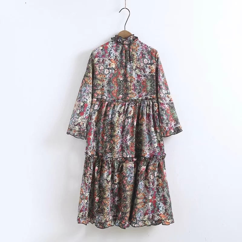 BF Loose Layers Of Flowers Dress