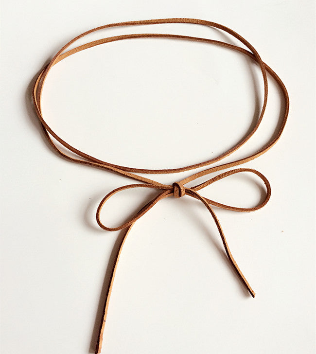 MM Tan Suede Wrap Belt